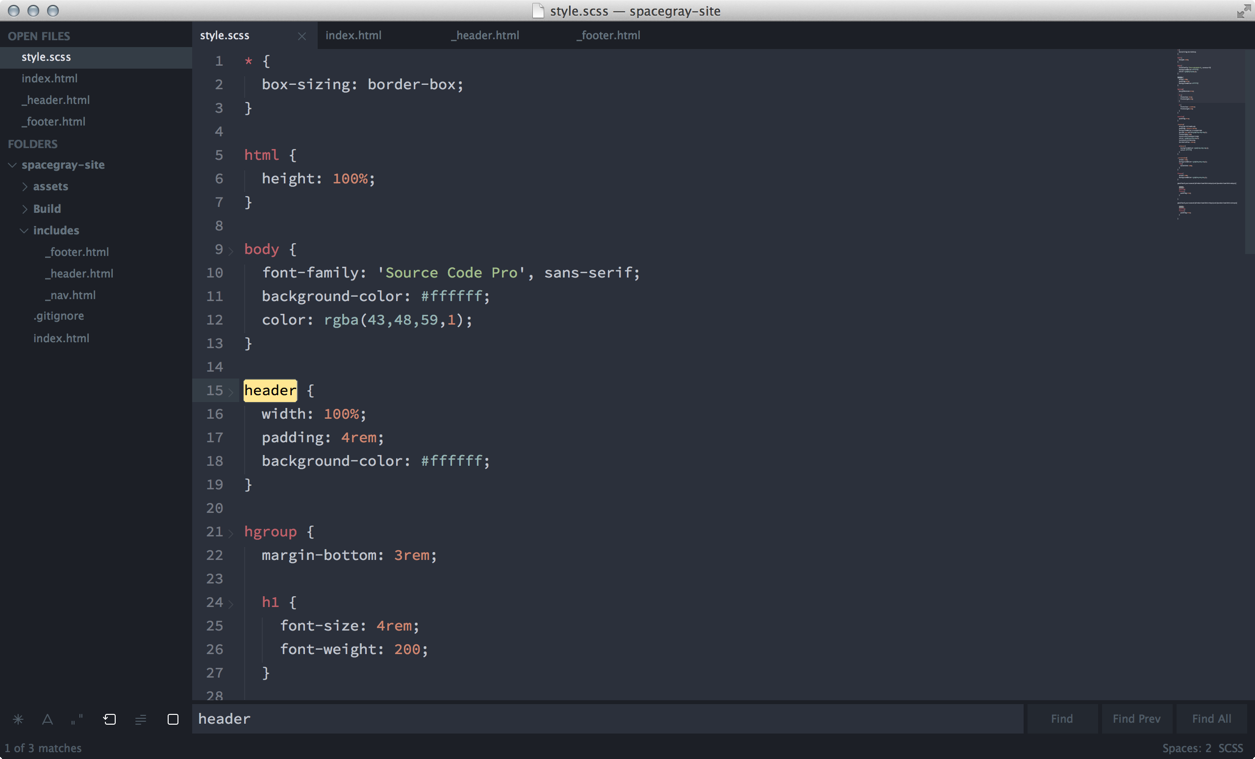 sublime text spacegray theme